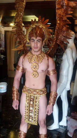 Mister Global Philippines 2014 Joseph Doruelo in his National Costume made by Edwin Uy