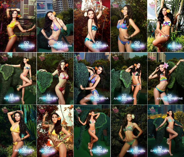 15 of the 17 KF bets for Bb. Pilipinas 2015