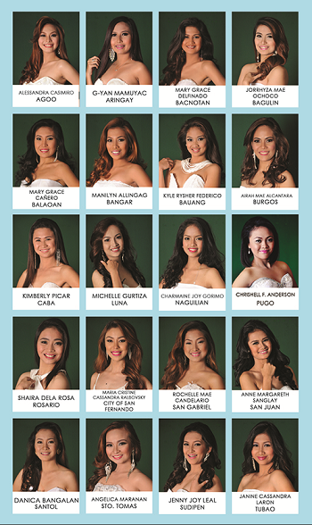 The twenty (20) Official Candidates of Mutia ti La Union 2015