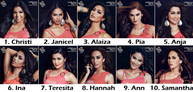 The Binibinis above have the ten (10) highest number of votes in our Final Update