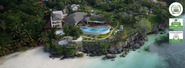 An aerial view of Amorita Resort in Panglao, Bohol where the photoshoot was conducted.