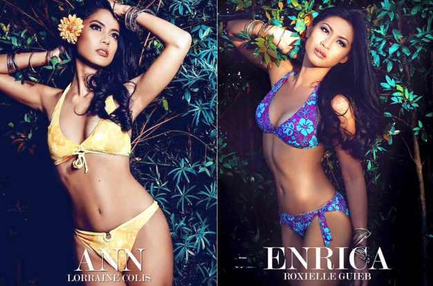 Binibini 24 Ann Lorraine Colis and Binibini 7 Enrica Roxiele Guieb as photographed by Owen Reyes