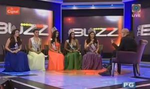 The Bb. Pilipinas 2015 Queens during their guesting on 'The Buzz'