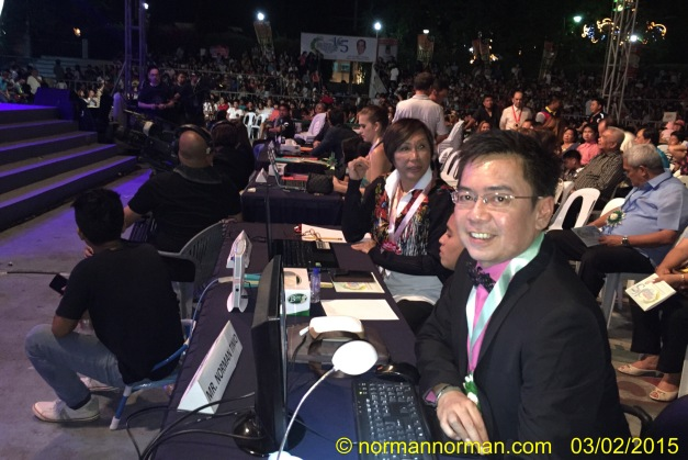 Your blogger as member of the panel of judges that selected the winner of Mutia ti La Union 2015