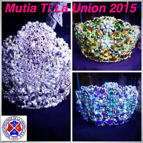 The crowns of Mutia ti La Union 2015