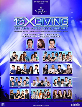"Share the promo poster above on Facebook, comment ""I'd like to go @unisilvertime"" and get a chance to win free tickets to the concert!"