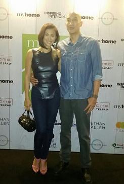 Mafae and husband Nic