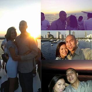 Photo grid of Mafae with husband Nic Belasco
