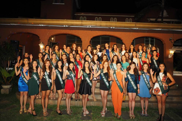 The Official Candidates of Miss Philippines Earth 2015 during the Welcome Party at the Carousel Mansion