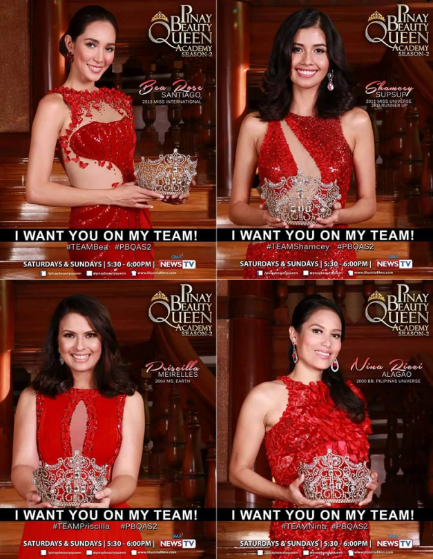 In their red Leo Almodal gowns, the four new mentors of Pinay Beauty Queen Academy Season 2 are ready when you are, ladies!