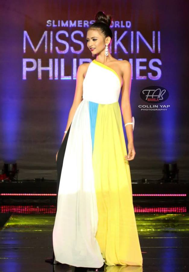 Angelu in evening gown (Photo credit: Collin Yap)