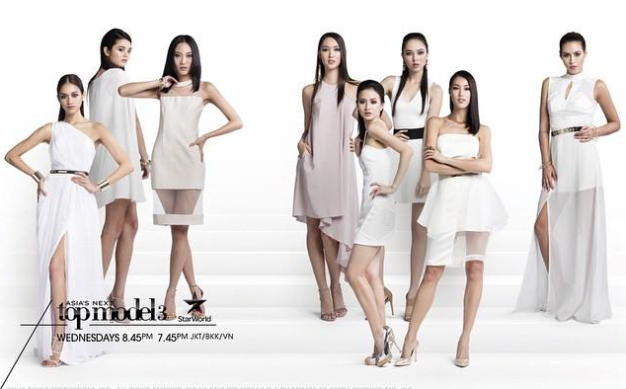 Only eight (8) remain in competition for Asia's Next Top Model S3 (left to right): Monika, Amanda, Gani, Aimee, Melissa, Tahlia, Barbara and KB
