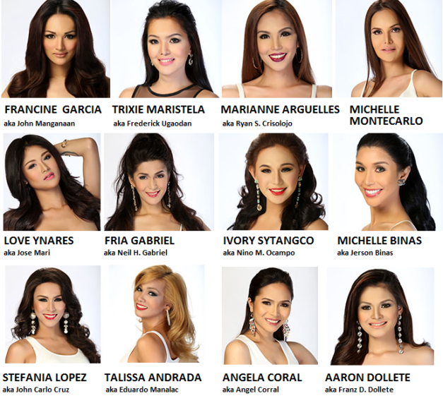 My Twelve (12) Picks for Miss Gay Manila 2015