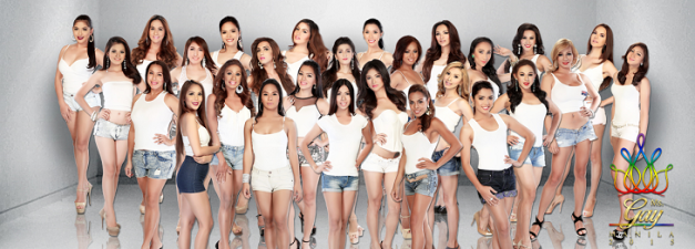 The twenty-seven candidates of Miss Gay Manila 2015