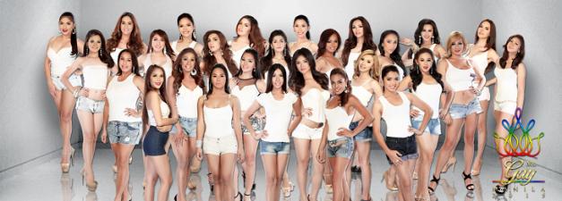 The twenty-seven candidates of Miss Gay Manila 2015