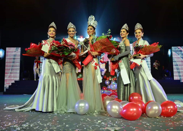 Luigi (2nd from left) was 2nd Runner-Up in the recently-concluded Miss Mandaue 2015