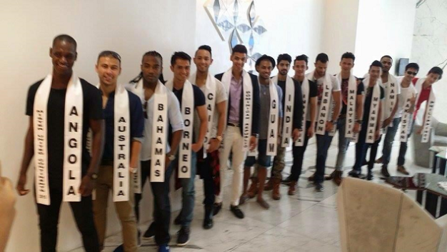 The guys of Mister United Continents 2015 during a group photoshoot