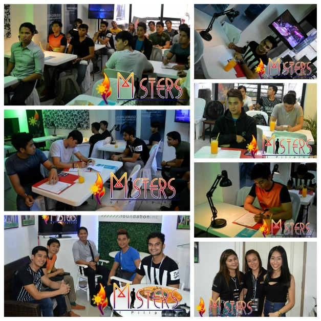 The 1st screening callback applicants for Misters of Pilipinas 2015 (Photo credit: Aski Pascual)