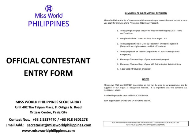 Click above to download the application form.