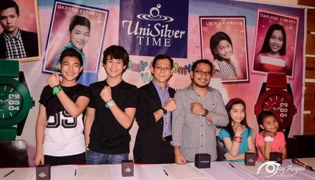 The popular winners of The Voice Kids are the newest endorsers of UniSilver Time (Photo credit: Joy Arguil)