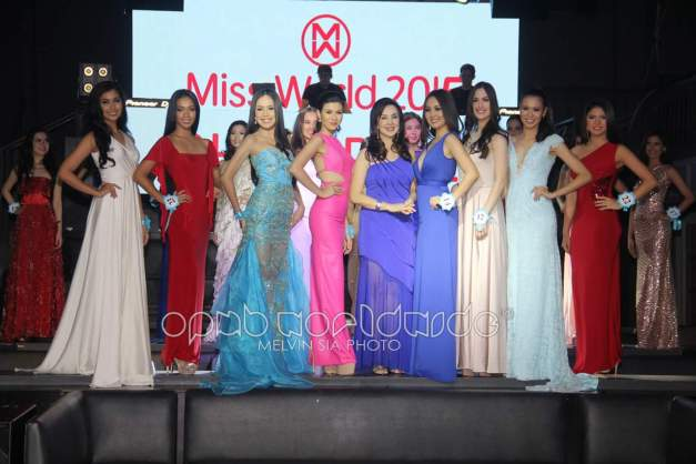 Janette (2nd from right) with Ms. Cory Quirino (middle) and some Miss World Philippines 2015 chosen candidates (Photo credit: Melvin Sia)