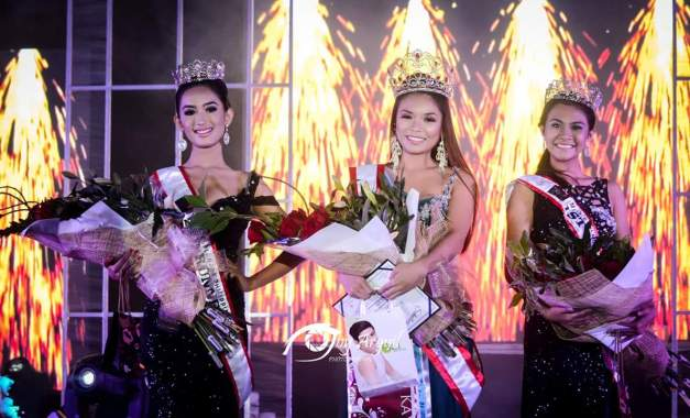 Miss Esplanade Philippines 2015 Aurora Asuncion (middle) is  flanked by 1st Runner-Up Dianne Dines (right)  and 2nd Runner-Up Kimberly Tee (Photo credit: Joy Arguil)
