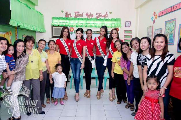 Our Bb. Pilipinas Queens during the last outreach program (Photo credit: Bruce Casanova!)