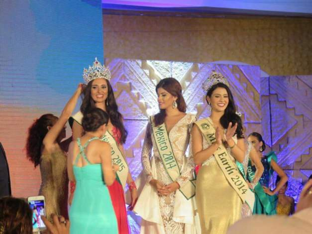 During the crowning of Miss Earth Mexico 2015