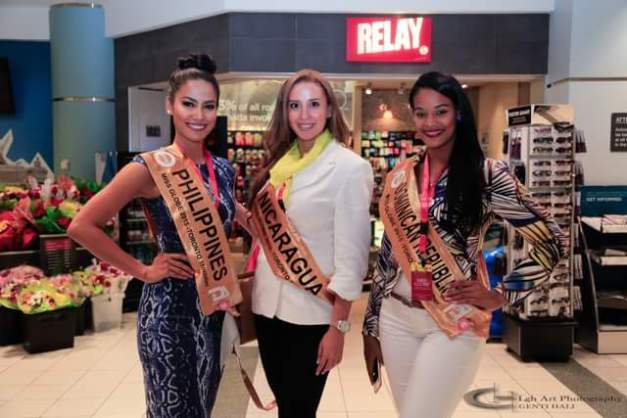 Ann (left) with Misses Nicaragua and Dominican Republic