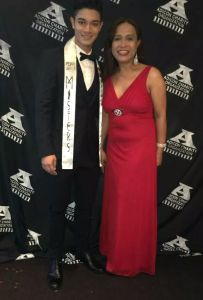 Kevin and Precious Medina during the Charity Masquerade Gala