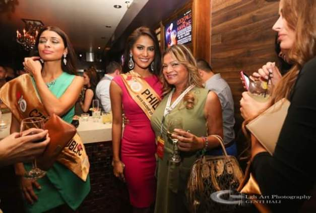 Ann with one of the Miss Globe 2015 organizers