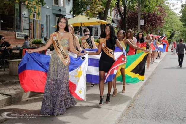 A parade of Beauties and their respective flags
