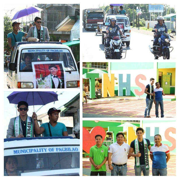 The Homecoming of Mister International Philippines 2015 Reniel Villareal in Pagbilao, Quezon