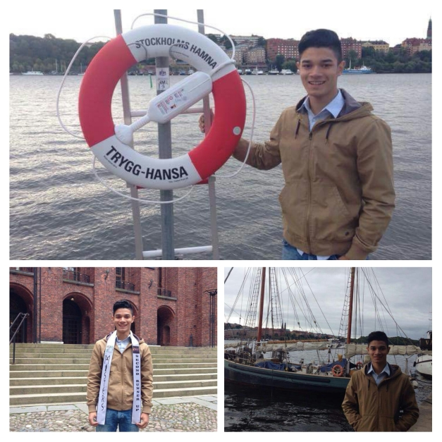 Misters 2015 2nd Runner-Up Kevin Fichera enjoying the sights of the Swedish capital