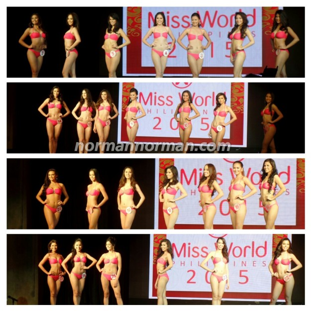 The Twenty-seven (27) Official Candidates of Miss World Philippines 2015 divided into four groups