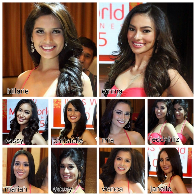 The ten (10) ladies above are my early favorites for Miss World Philippines 2015 (Photo credit: Jhosh Rodriguez)
