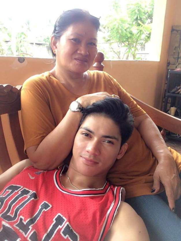 Reniel with his beloved Nanay Baby