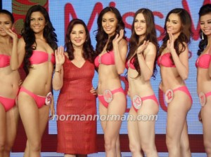 Ms. Cory Quirino and some of the candidates