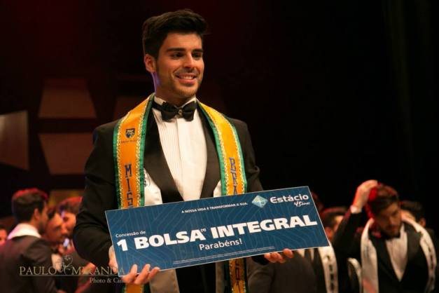 Anderson Tomazini upon winning Mister Brazil 2015