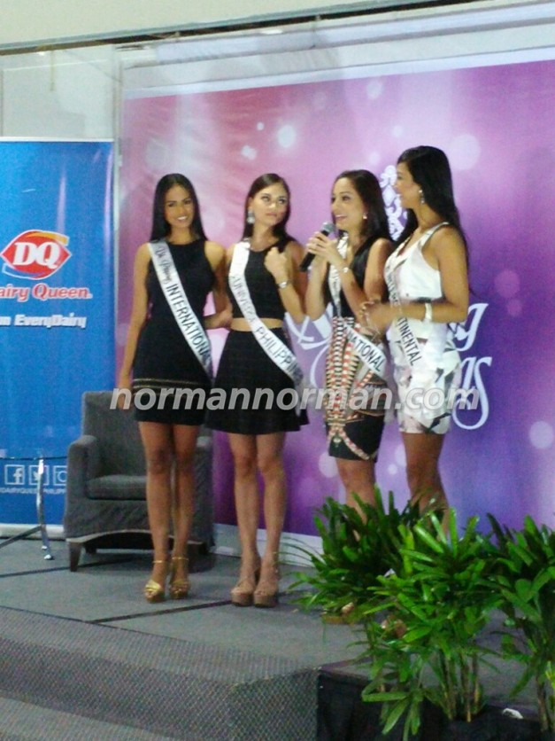 Janicel with her sisters Pia, Rogelie and Christi