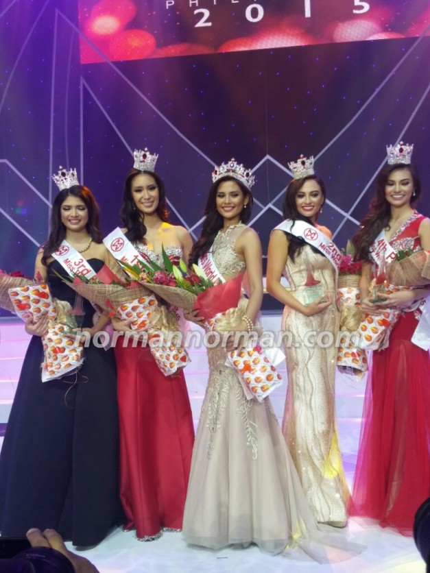 Once more, Miss World Philippines 2015 Hillarie Danielle Parungao and her four Princesses