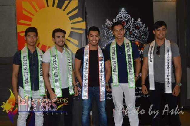 Willan Pagayon during his sashing as Official Candidate of Misters 2015 The Pageant