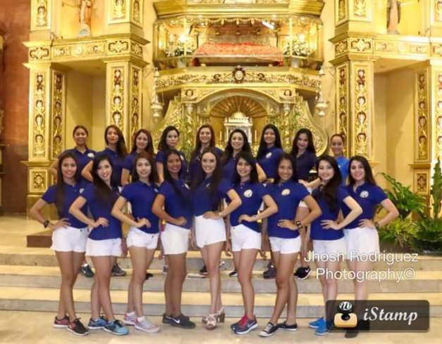 The local candidates of Miss Republic of the Philippines visit the miraculous image of Jesus in San Pedro, Laguna (Photo credit: Jhosh Rodriguez)