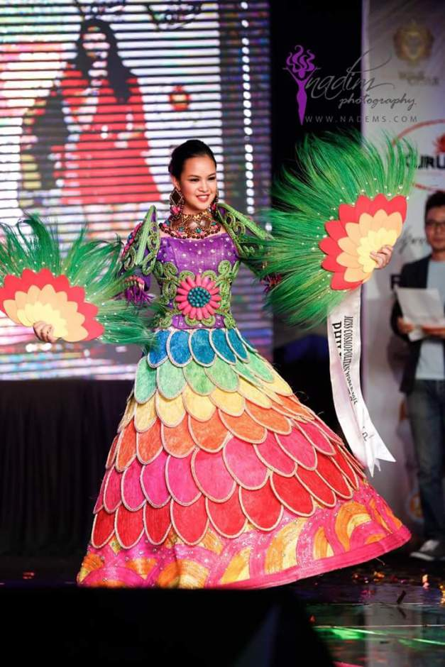 Miss Philippines Patricia Cabawatan in her Jay Dee Abustan NatCos