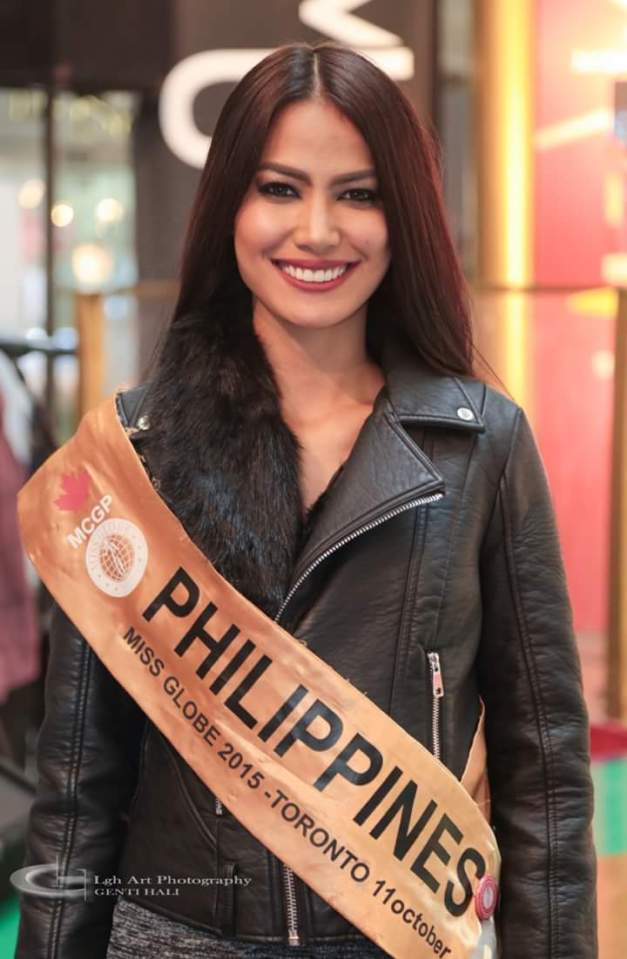 Miss Philippines Ann Colis during a charity event of Miss Globe 2015