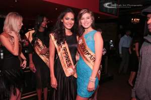 Ann and Miss South Africa during Salsa Night