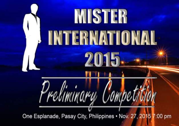 Meanwhile, the Preliminary Competition of Mister International 2015 will be held at One Esplanade on November 27