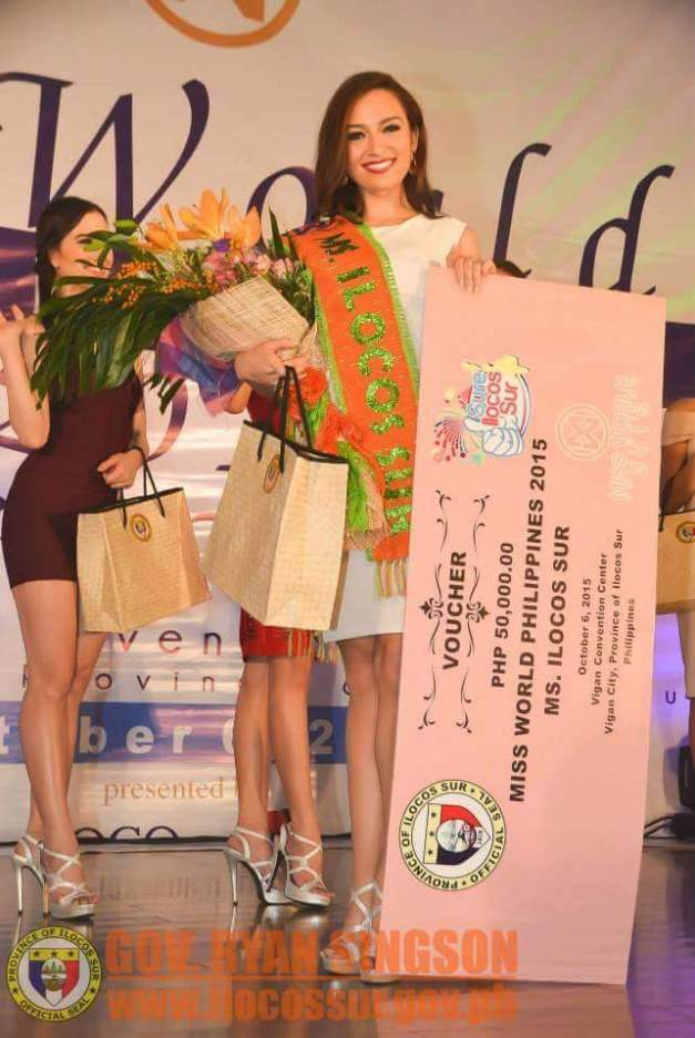 Mia Allyson Howell winning Miss World Philippines Ilocos Sur 2015 in Vigan