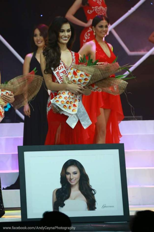 Miss World Philippines 2015 4th Princess Emma Tiglao after winning Miss Photogenic (Photo credit: Andy Cayna)