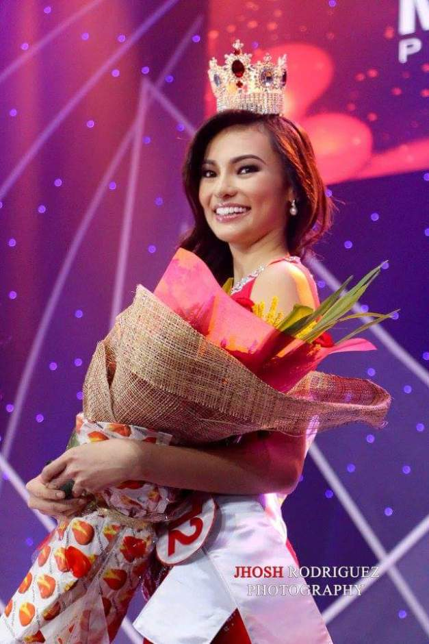 Emma after being named 4th Princess of Miss World Philippines 2015 (Photo credit: Jhosh Rodriguez)